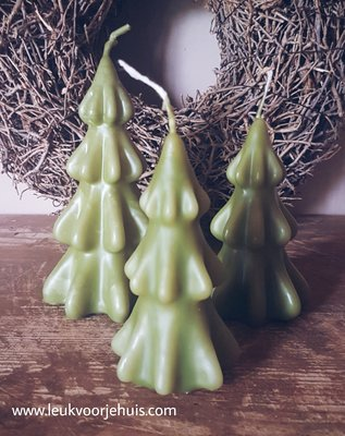 Kaars Kerstboom medium groen